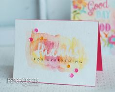Love this simple card design. I would do the color and stamp or stencil over it instead of the embossing and trying to paint around it. Scrapbook Blog, Scrapbook Cards, Simple Card Designs, Paper Crafts Magazine, Creating Keepsakes, Stampin Up, Watercolor Cards, Card Tags, Cool Cards