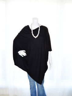 Hey, I found this really awesome Etsy listing at https://www.etsy.com/listing/205168804/black-poncho-lightweight-nursing-cover