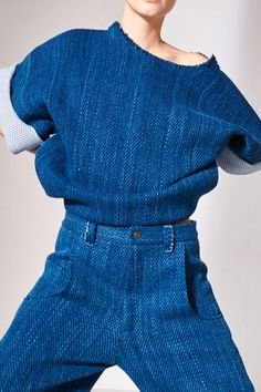 that denim sweatsuit // LILI CLASPE