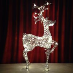 Do you find yourself buying all little decorations and then spreading them all over the place? On the end you know its too much, so you have to pack few back? What about buying just one big one, like I did this christmas! This elegant half-meter tall reindeer is gonna make the atmosphere just perfectly. :)