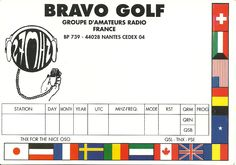 One of the original QSL from the group BG printed in France