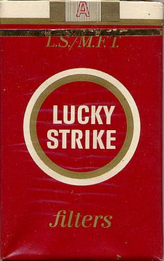 lucky strike - vintage packet. Dad smoked these for awhile so he could collect the packs and send away for a record.