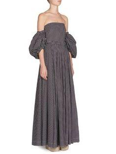 LOEWE Off-Shoulder Polka Dot Gown. #loewe #cloth #