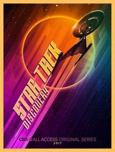 The new Star Trek series has an official title. During the Star Trek panel at Comic-Con in San Diego on… Star Trek 2009, New Star Trek, Star Wars, Discovery 2017, Uss Discovery, San Diego Comic Con, Spock, Geeks, Vaisseau Star Trek