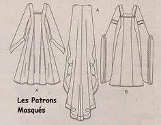 patrons des robes du moyen ages - vêtements médiévaux