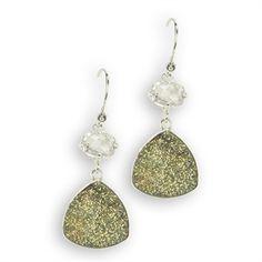 Lori Bonn Quartz and Drusy Trillion Earrings #VonMaur #PurpleandGreen