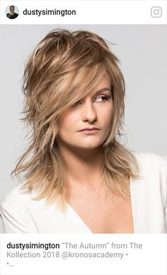 Good colour Medium Layered Hair, Medium Long Hair, Medium Hair Styles, Long Hair Styles, Shaggy Hair, Long Shag Haircut, Choppy Hair, Pixie Haircut Styles, Hair And Beauty Salon