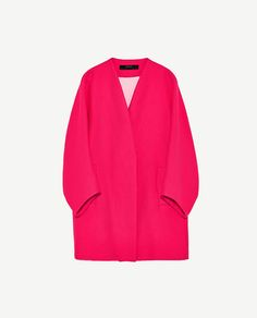 Image 8 of TEXTURED WEAVE COAT from Zara