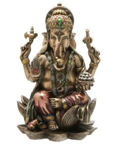 Ganesha is the God of all beginnings. He's an all-powerful, all-encompassing deity; yet, his appeal to millions lies in his everydayness. He'll help you get through that tough situation and he'll see that you reach your destination safely.