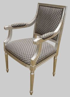 Lovely Gucci Furniture Upholstered | Gucci Fabric Upholstered Silver Square  Chair...have To Have