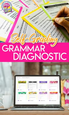 This grammar diagnostic set contains 8 different short quizzes to help you collect baseline data before a unit and/or to use after teaching as exit tickets or quick assessments to measure growth. This resource contains both DIGITAL (GOOGLE FORMS) and PRINT (SECURE PDF) plus EDITABLE (PowerPoint) formats. Aligned with middle and high school standards. #GrammarLessons #HighSchoolELA #MiddleSchoolELA #DistanceLearning Grammar And Punctuation, Teaching Grammar, Grammar Lessons, Writing Lessons, English Teaching Resources, Writing Resources, Teacher Resources, Middle School Ela, High School
