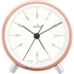 Acctim moderate styish Evo Simple Copper Alarm Clock