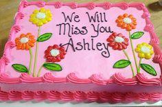 Going away cake Buttercream Cupcakes, Cake Icing, Cupcake Cakes, Cake Decorating Videos, Cake Decorating Techniques, Going Away Cakes, Pastel Rectangular, Goodbye Cake, Sheet Cakes Decorated