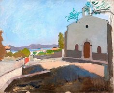 Chapel of Saint Joseph, Saint-Tropez, Henri Matisse, Kept at the New York Metropolitan Museum of Art Henri Matisse, Matisse Kunst, Matisse Art, Matisse Drawing, Post Impressionism, Impressionist Art, St Joseph, Kunst Online, Online Art