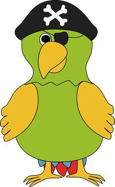 Pirate Parrot Clip Art - Pirate Parrot Image
