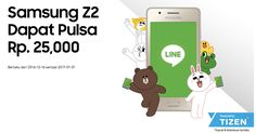 Promo LINE For Tizen Bagi-bagi Pulsa Rp.25.000 untuk Pengguna Samsung Z2