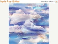 Easter SALE Heavenly Sky~Cotton Fabric by Benartex~ Quilt, Home Decor~Fast Shipping,SB407