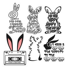 I'm so making this Hip Hop bunny shirt for emma Hip Hip, Silhouette Cameo Projects, Silhouette Design, Silhouette Cameo Files, Vinyl Crafts, Vinyl Projects, Paper Crafts, Brother Plotter, Shilouette Cameo
