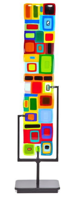 Transparent Sentinel: Helen Rudy: Art Glass Sculpture - Artful Home Fused Glass Art, Stained Glass Art, Stained Glass Windows, Cut Glass, Clear Glass, Glass Photo, Glass Garden, Glass Design, Glass Panels