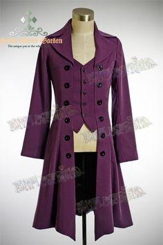 Elegant Gothic Aristocrat: Embellished-vest Pirate Jacket