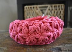 Basket pink   Panier rose   Canasto rosa   Sold out   Message me for a custom order. Basket, Throw Pillows, Rose, Pink, Handmade, Crocheting, Toss Pillows, Hand Made, Decorative Pillows