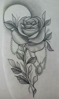Just wanted to be sure u were ok. I hope you are having a good day and I love you so much 💜 Cool Tattoo Drawings, Rose Drawing Tattoo, Pencil Art Drawings, Tattoo Sketches, Rose Tattoos, Flower Tattoos, Body Art Tattoos, Graffiti Tattoo, Arm Tattoo