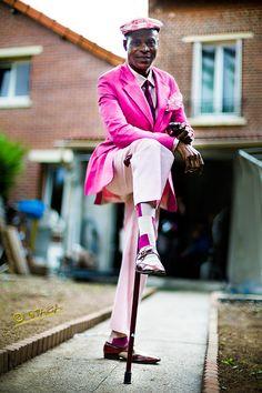 Ngatsongo Yves François, alias Yves Saint Lauren by staca. Sapeurs: Elegant gentlemen of the Congo