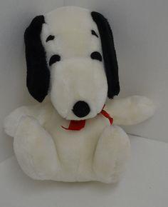 "Vintage Knickerbocker Peanuts Snoopy Plush Red Bow Stuffed Sitting 10"" 1968 #Knickerbocker"
