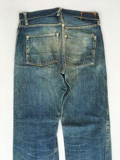 Evisu, Honeycombs, Ripped Denim, Blue Jeans, Indigo, Japan, Clothing, Pants, Vintage