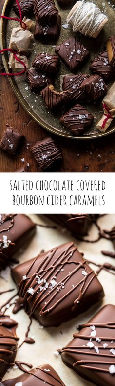 Salted Chocolate Covered Bourbon Cider Caramels | halfbakedharvest.com @hbharvest