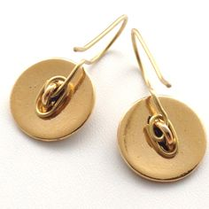 How to Make All in One Shank Button Earrings ~ Wire Jewelry Tutorials