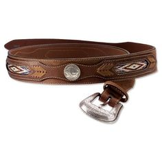 Buffalo Nickel Belt, 42 Orvis. $79.00. A pair of genuine buffalo nickels distinguishes this handsome brown leather belt. Worn from years of handling, one nickel displays the standing buffalo; the other showcases the Native American silhouette. The buffalo nickel, designed by James Earle Fraser, was introduced in 1913. Fraser used three different Native Americans as models and based the buffalo on Black Diamond, who lived in the New York City Zoo. Braided inlays. En...
