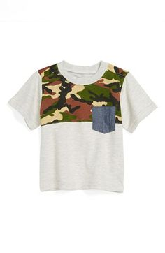 Sovereign Code 'Comrade' Contrast Pocket T-Shirt (Baby Boys) available at #Nordstrom