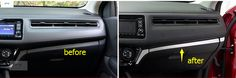 interior For Honda HRV HR-V Vezel 2014 - 2016 Stainless Steel Central Control Instrument Panel Decoration Cover Trim #Affiliate