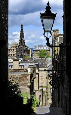 A View Through Advocate's Close in Edinburgh - as seen from Royal Mile.