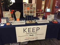 Love this table set up.especially the pictures! Keep Collection, Family Brand, Park Lane Jewelry, Vendor Events, Table Set Up, Keep Jewelry, Metal Art, Product Launch, How To Apply