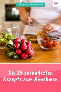 Genießen und dabei abnehmen? Es funktioniert - mit unseren leckeren und gesunden 25 Rezepten zum Abnehmen. #rezepte #abnehmen #gesund Atkins, Paleo, Vegan, Vegetables, Fitness, Food, Simple, Chef Recipes, Food Food