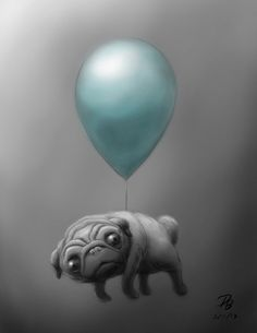 Flying Pug by ~TheDude-In-NavyBlue on deviantART creepy but cool Pug Pictures, Pug Pics, Fu Dog, Pugs And Kisses, Baby Pugs, Pug Art, Cute Pugs, Funny Pugs, Dog Illustration