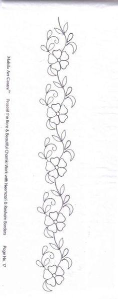 ru / Фото - приложение к ручной вышивк. - A Mano en hilo mexicano patrones y costura mexicanos para bordar de bordados Border Embroidery Designs, Floral Embroidery Patterns, Paper Embroidery, Beaded Embroidery, Quilting Designs, Embroidery Stitches, Machine Embroidery, Doily Patterns, Dress Patterns