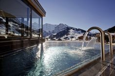 The Cambrian hotel, located in Adelboden, Switzerland and designed by Peter Silling & Associates