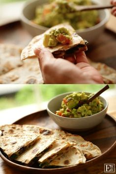 Learn how to make my Veggie Quesadilla Recipe with Chunky Guacamole, a great vegetarian dinner idea that fast, easy and delicious! Veggie Quesadilla, Quesadilla Recipes, Quesadillas, Easy Vegetarian Dinner, Vegetarian Recipes, Mexican Recipes, Cooking Recipes, Fall Dinner Recipes, Spring Recipes