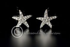 Starfish Bridal Hair Pins with Swarovski Crystals from Cassandra Lynne