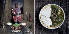 Kenya: Mboga and orgali (white corn polenta with vegetables and goat meat) Normita Sambu Arap, 65 years old – Oltepessi (masaai mara) Kenya Polenta, Starting A Food Truck, Kenya, Earthy Home, Goat Meat, Curry, Japanese Kitchen, Salsa Verde, Ideas