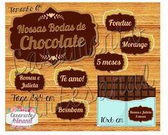 5 meses: Bodas de chocolate (essa é esperada hein!!) Delícia, perfeito para uma noite com fondue! Hummm Informações e pedidos em meucasamentoartesanal@gmail.com