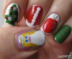 Christmas Tree Ornaments Nails