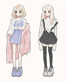 ideas for drawing clothes ideas character design Cartoon Kunst, Cartoon Art, Girl Pose, Art Kawaii, Art Mignon, Anime Drawing Styles, Manga Drawing, Clothing Sketches, Cute Art Styles