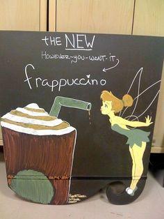 Disney Starbucks Menus by Disney Character Artist Robert Farrell