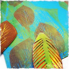 Want to try this with fabric! PlexiglassPRINTSautumn_leaves4_byTraciBautista
