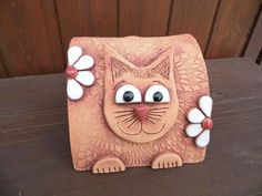 micka Clay Tiles, Polymer Clay, Projects To Try, Porcelain, Pottery, Deco, Handmade, Animals, Cup Holders