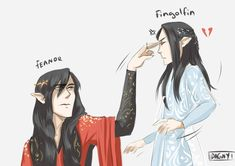 Silly young brother by DagnyArt (Fëanor and Fingolfin)